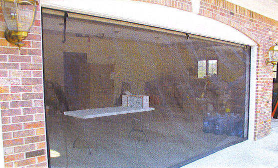 Zip roll screen for any size garage door